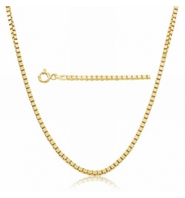 Sterling Silver Box Chain 0.73mm - Gold Plated