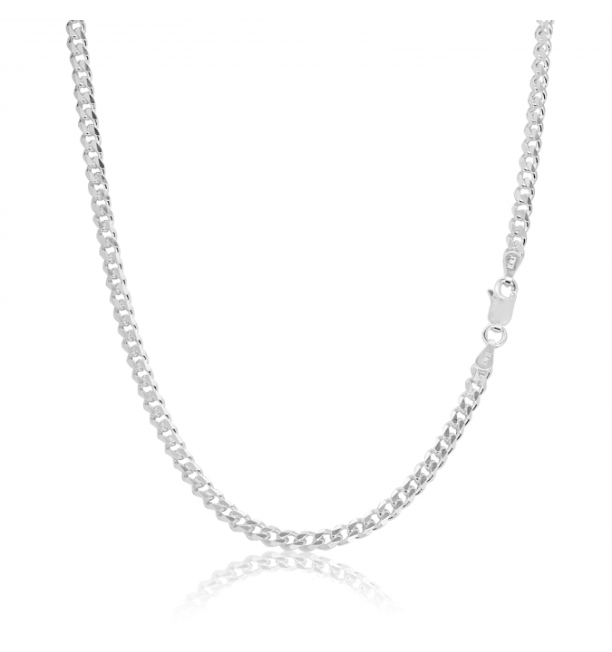 Sterling Silver Curb Chain 3.5mm
