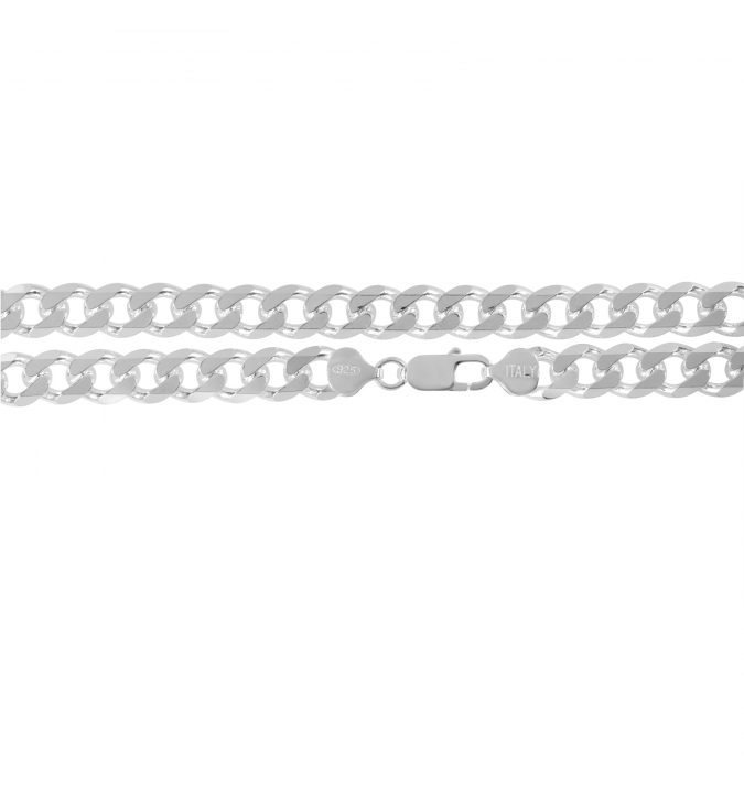 Sterling Silver Curb Chain 10.5mm