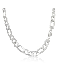 Sterling Silver Figaro Chain 11mm