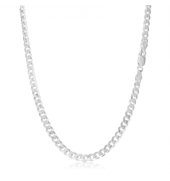 Sterling Silver Curb Chain 5.5mm