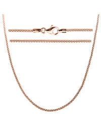 Sterling Silver Popcorn Chain 1.6mm - Rose Gold Plated