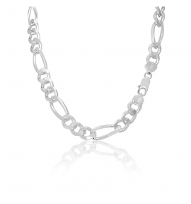 Sterling Silver Figaro Chain 10mm