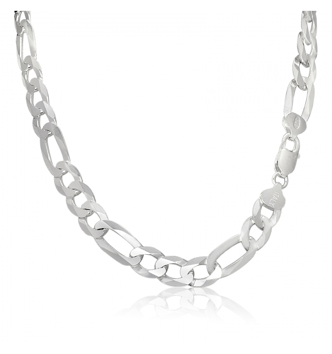 Sterling Silver Figaro Chain 9.5mm