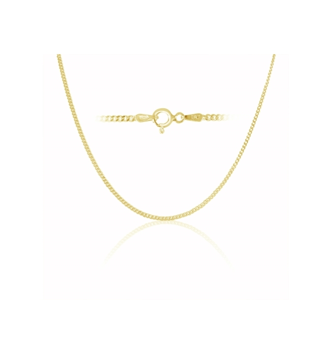 Sterling Silver Curb Chain 2mm - Gold Plated