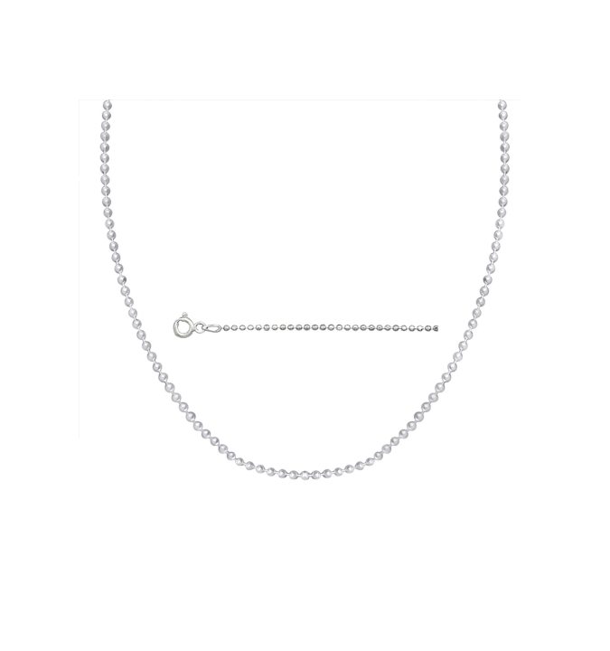 Sterling Silver Ball Bead Chain 2mm