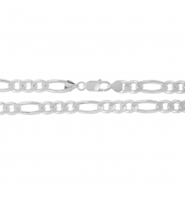 Sterling Silver Figaro Chain 8mm