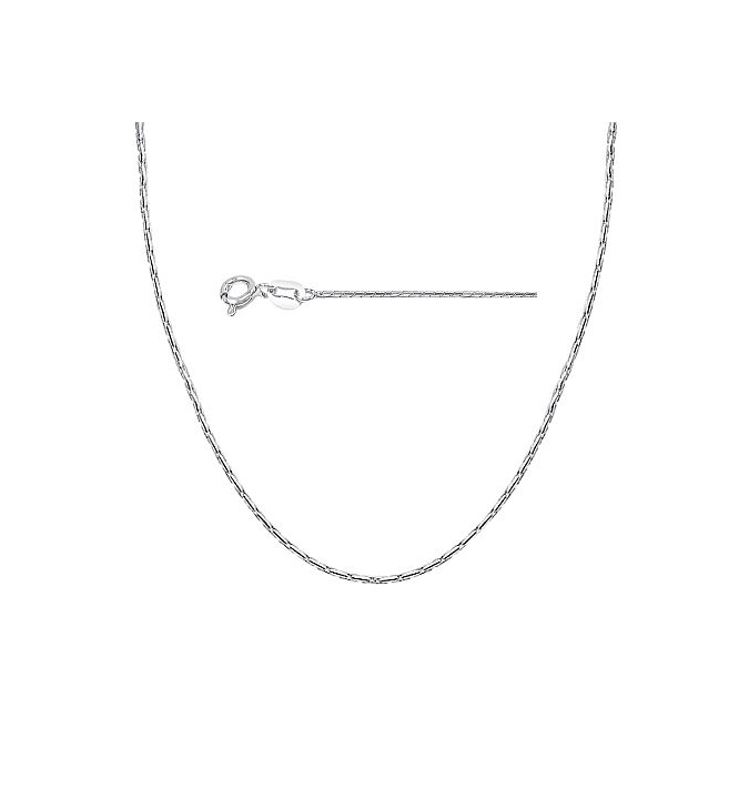 Sterling Silver Cardano Chain 0.7mm - Rhodium Plated