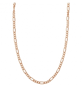 Sterling Silver Figaro Chain 2.2mm - Rose Gold Plated