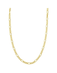 Sterling Silver Figaro Chain 1.7mm - Gold Plated