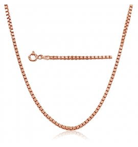 Sterling Silver Box Chain 0.85mm - Rose Gold Plated