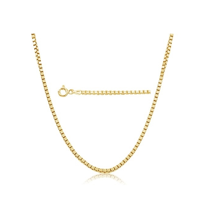 Sterling Silver Box Chain 0.85mm - Gold Plated