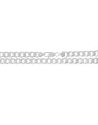 Sterling Silver Curb Chain 8mm