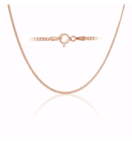 Sterling Silver Curb Chain 2mm - Rose Gold Plated