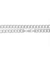 Sterling Silver Curb Chain 9mm
