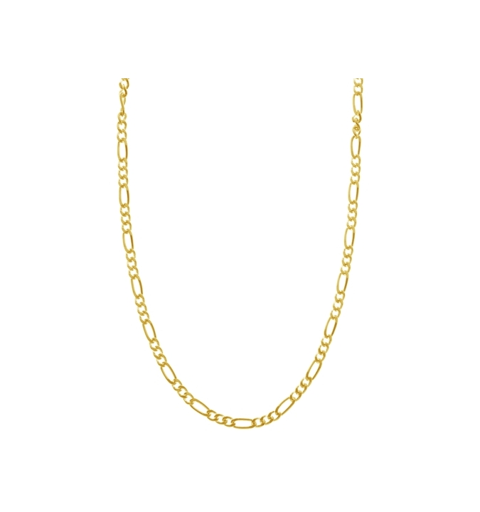 Sterling Silver Figaro Chain 2mm - Gold Plated