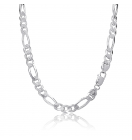 Sterling Silver Figaro Chain 7mm