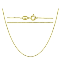 Sterling Silver Round Box Chain 0.75mm - Gold Plated
