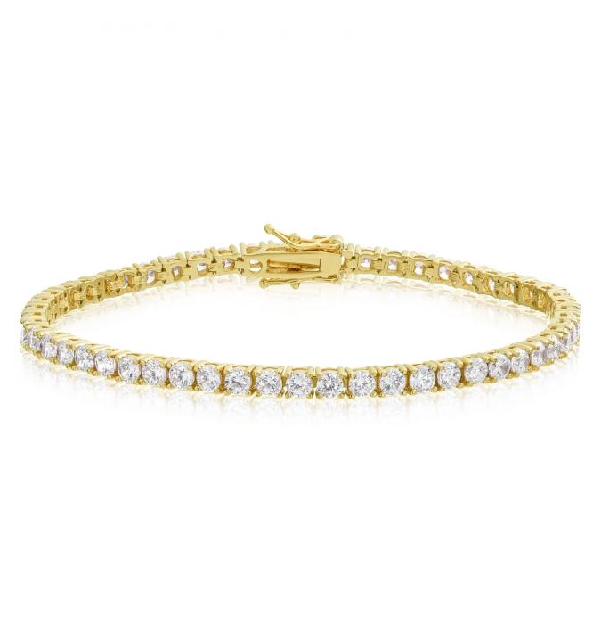 Cubic Zirconia Tennis Bracelet Gold