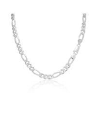 Sterling Silver Figaro Chain 6.5mm