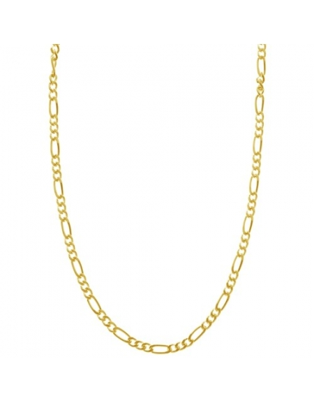 Sterling Silver Figaro Chain 2.2mm - Gold Plated