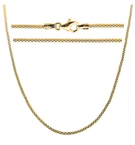 Sterling Silver Popcorn Chain 2mm - Gold Plated